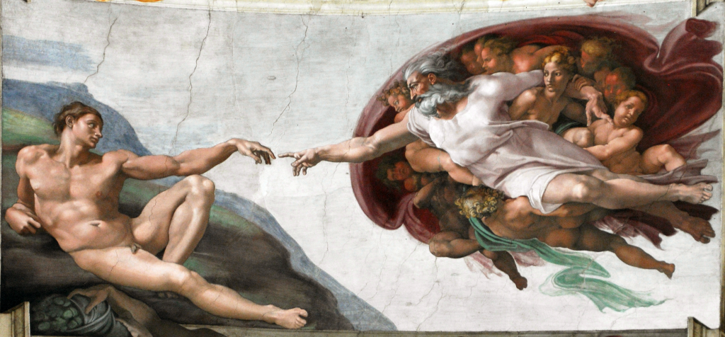 """God2-Sistine Chapel""作者米开朗基罗 - 上傳者自己的作品, Titimaster (talk), photography: 11/06/2011。来自维基共享资源 - https://commons.wikimedia.org/wiki/File:God2-Sistine_Chapel.png#mediaviewer/File:God2-Sistine_Chapel.png 根据Public domain授权"