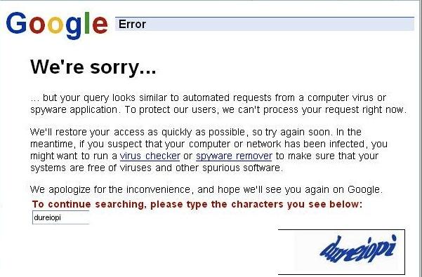 GoogleSorry