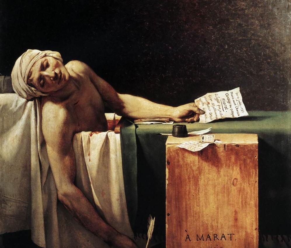 "Jacques-Louis David, ""Death of Marat"""
