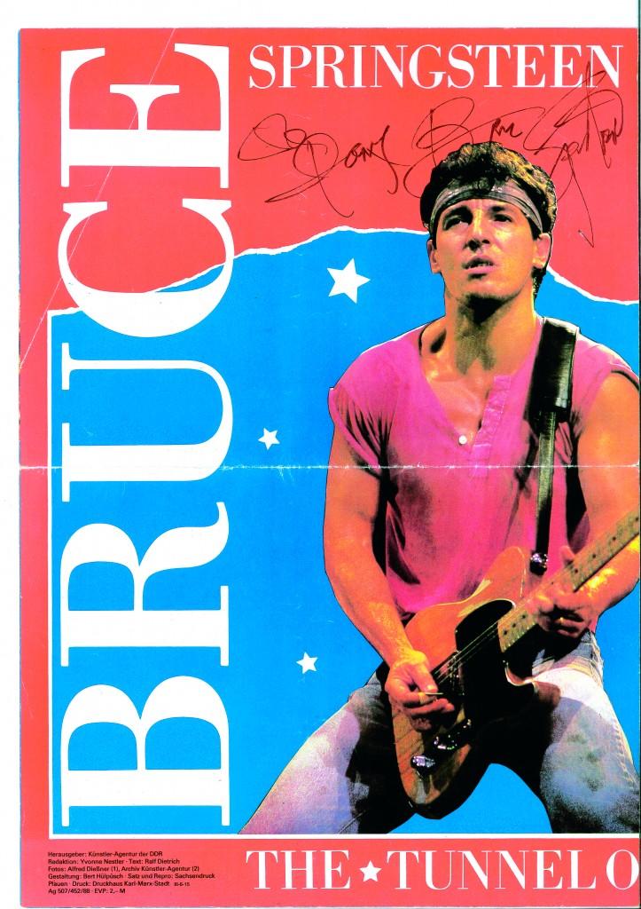 布魯斯.史普林斯汀歐洲巡迴演唱會的官方海報。