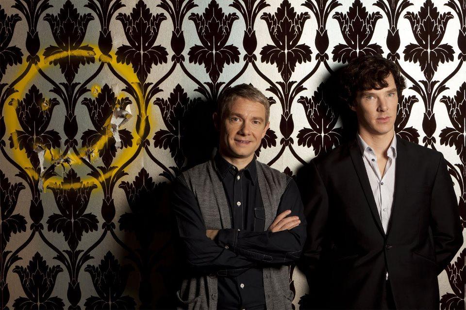 《新世紀福爾摩斯》,右為Benedict Cumberbatch