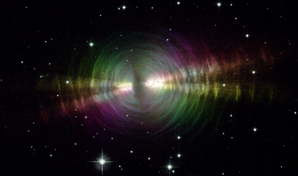 Rainbow Image of the Egg Nebula/Credit: NASA and The Hubble Heritage Team (STScI/AURA)
