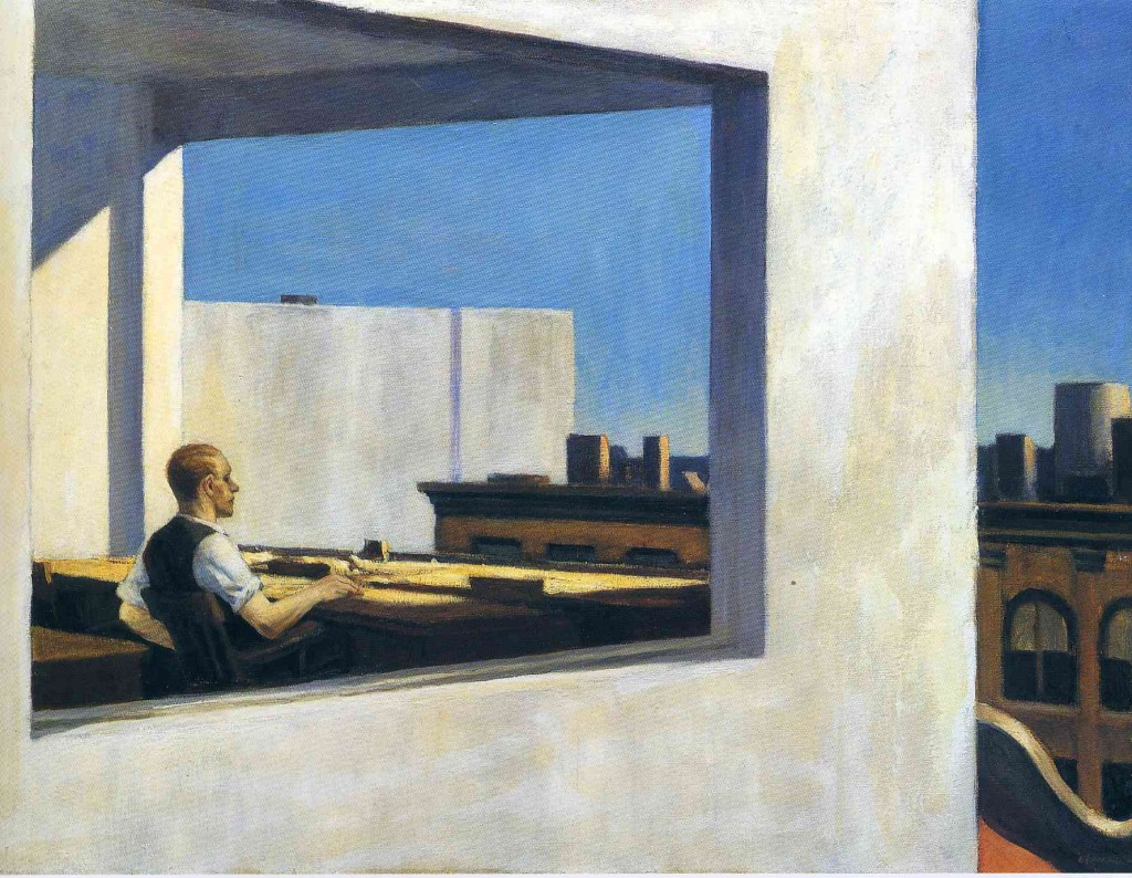 """Edward Hoper, """"Office in a Small City"""", 1953"""